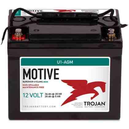 Batería Trojan U1-AGM 12V 33 Ah AGM (Libre Mantenimiento)