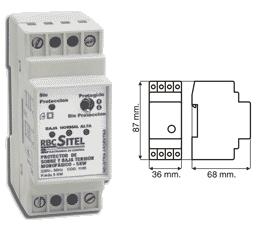 Protector De Tension Monofasico Electrico Rbc 5000w/22amperes
